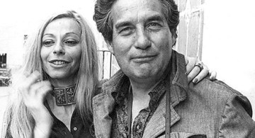 Octavio Paz y Marie-José Tramini, con quien se casó en 1964.