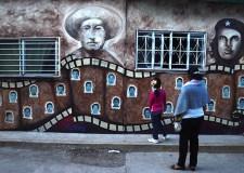Mural en la Normal de Ayotzinapa. Fotografía © EFE/Lenin Ocampo Torres.