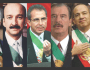 Los últimos seis presidentes mexicanos.