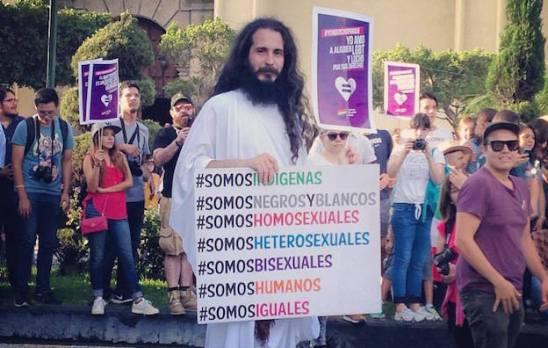 Jesús a favor de la diversidad. Foto © Óscar Augusto Juárez Mora.