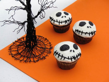 Cupcakes para Halloween con personajes de Tim Burton