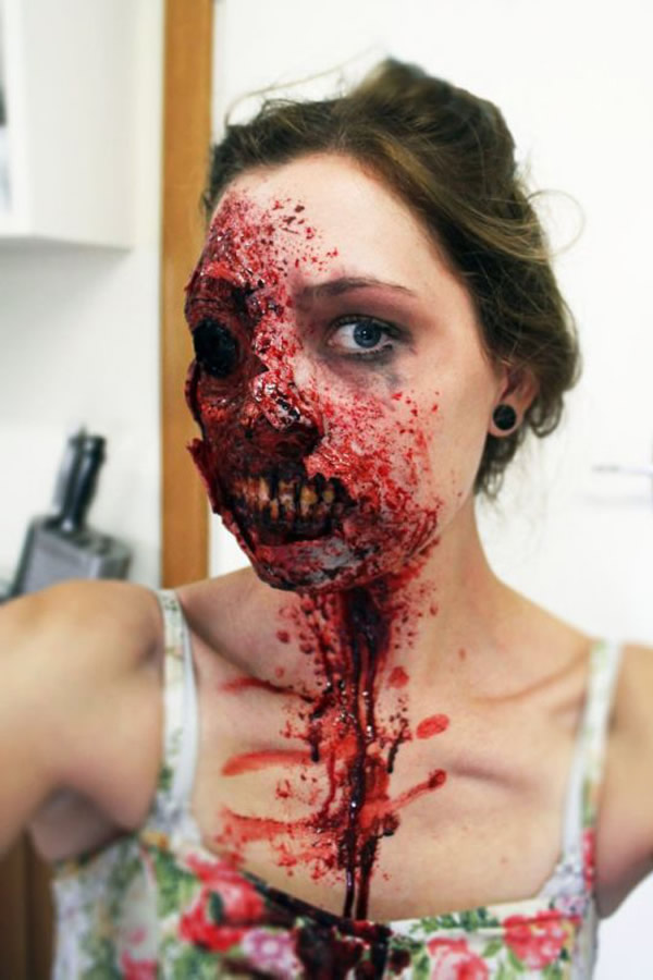 Maquillaje de terror para una fiesta zombie - Como maquillarse de zombie ...