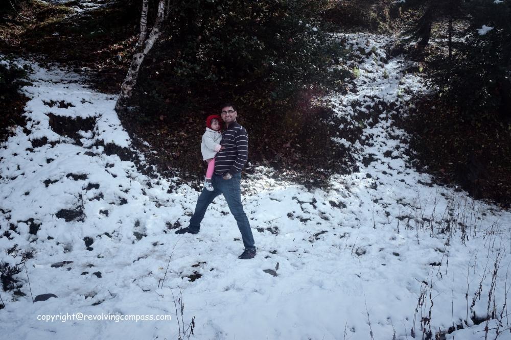 Amidst fresh snow in Manali