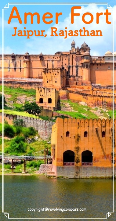 Amer fort or Amber fort, a must visit in Jaipur, Rajasthan, India