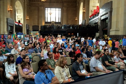 The Innovation Stage at the 2014 Kansas City Maker Fair at Union Station featured an array of presentations and forums focusing on the world of making.