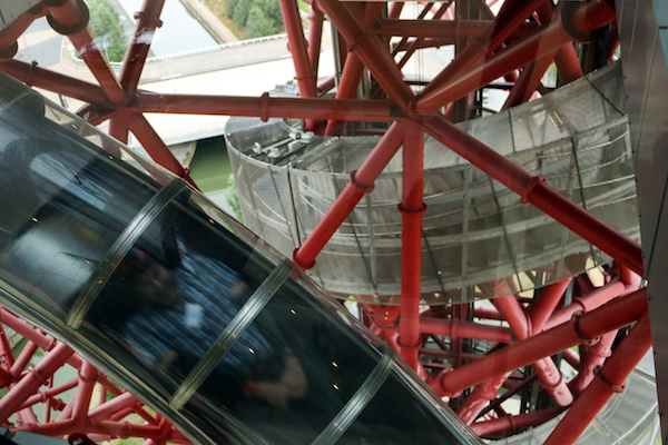 Riding the tallest slide in the the world - ArcelorMittal Orbit