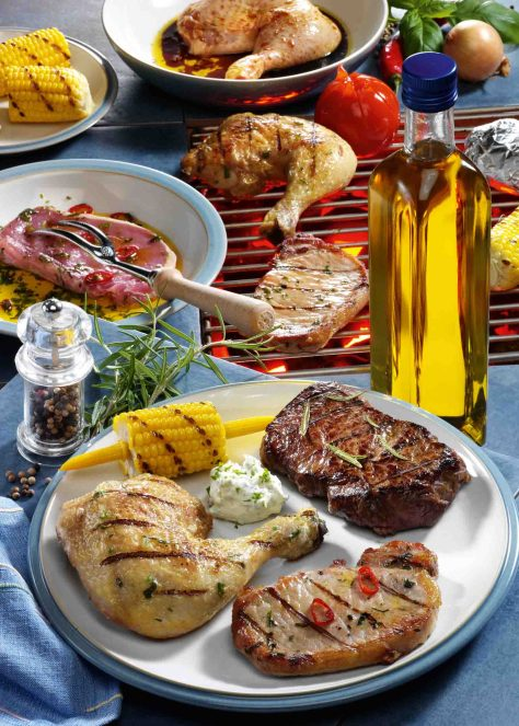 Dreierlei Fleisch vom Grill Foto: Wirths PR
