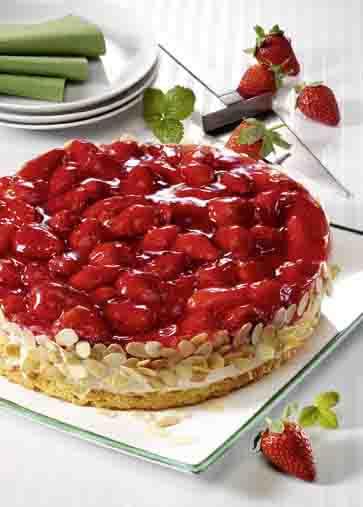 Erdbeer-Quark-Torte für Diabetiker Foto: Wirths PR