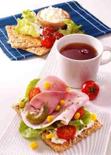 Schlanke Linie: Gourmetschnitte mit Schinken Foto: www.1000rezepte.de