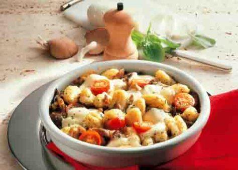 Kartoffelgerichte: Kartoffel-Gnocchi mit Austernpilzen Foto: Wirths PR