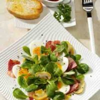 Feldsalat mit Champignons für Diabetiker