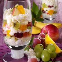 Schlanke Linie: Milchreis mit frischem Obst