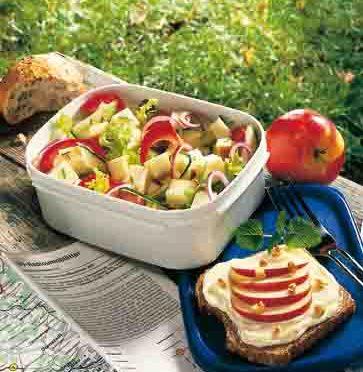 Apfel-Rezepte: Brotzeit mit Käse