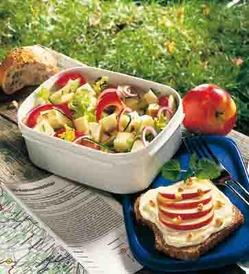 Apfel-Rezepte: Brotzeit mit Käse Foto: Wirths PR