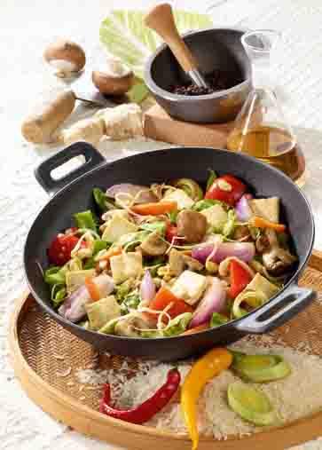Kohl-Rezepte: Wok-Gemüse mit Tofu Foto: Wirths PR