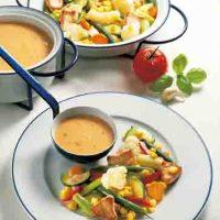 Putengeschnetzeltes mit Gemüse (cholesterinarm)