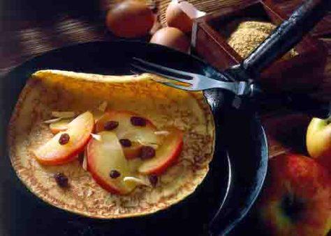Apfel-Rezepte: Apfel-Pfannkuchen Foto: Wirths PR
