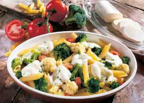 Kohl-Rezepte: Blumenkohl-Brokkoli-Gratin Siena Foto: Wirths PR