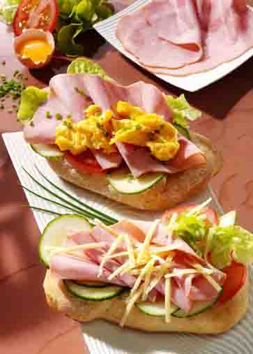 Snacks & Fingerfood: Farmer-Sandwich Foto: Wirths PR