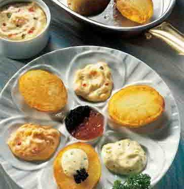 Kartoffelgerichte: Gourmet-Kartoffeln mit Dips
