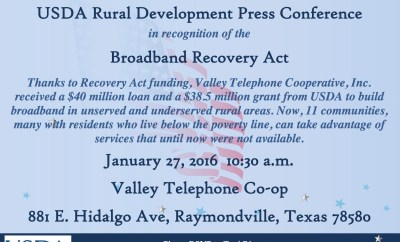 Invite Broadband Recovery Act Press Conference