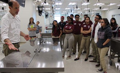 studying research at Texas A&M