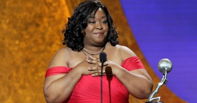LOS ANGELES, CA - MARCH 04:  Writer Shonda Rhimes accepts the award for Outstanding Writing in a Dramatic Series onstage at the 42nd NAACP Image Awards held at The Shrine Auditorium on March 4, 2011 in Los Angeles, California.  (Photo by Kevin Winter/Getty Images  for NAACP Image Awards)
