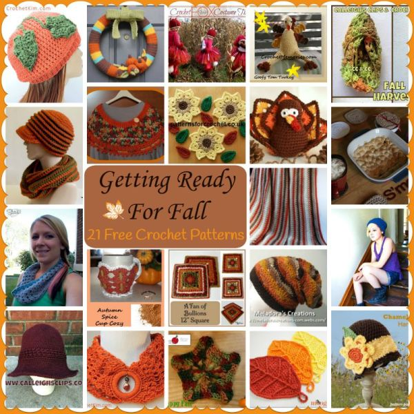 Getting ready for fall 21 free crochet patterns for Getting ready for fall