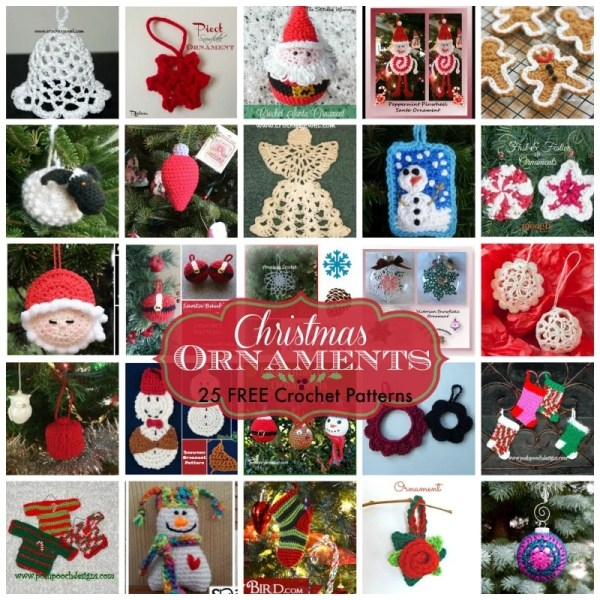 Christmas Ornaments ~ 25 FREE Crochet Patterns - Rhelenas ...