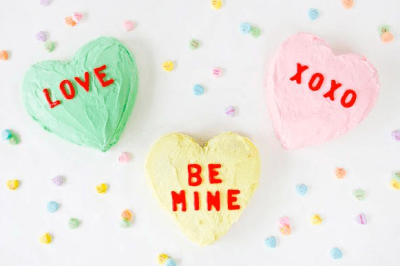 Conversation Hearts Cakes