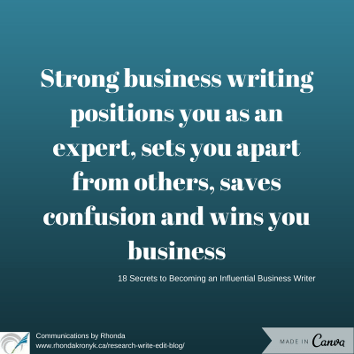 Influential business writing