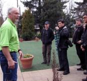 Ben DeGoede, owner of Windmill Gardens, gave a tour.
