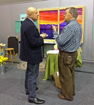 Laszlo gives an interview to C.R. Roberts of The News Tribune. m