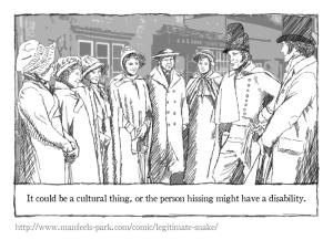 Panel from the comic 'Legitimate snak'.