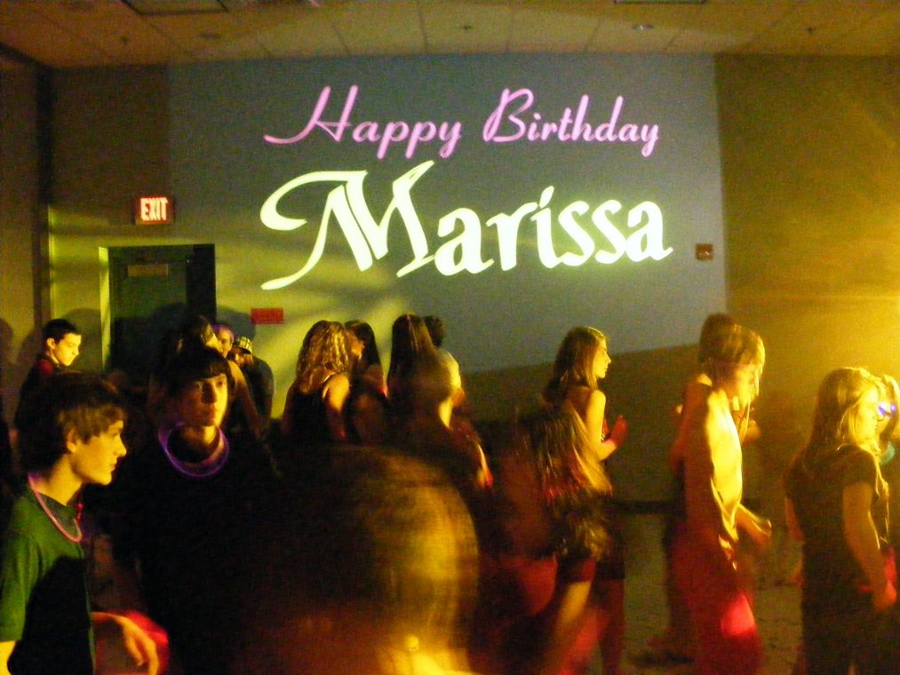 Birthday party projection