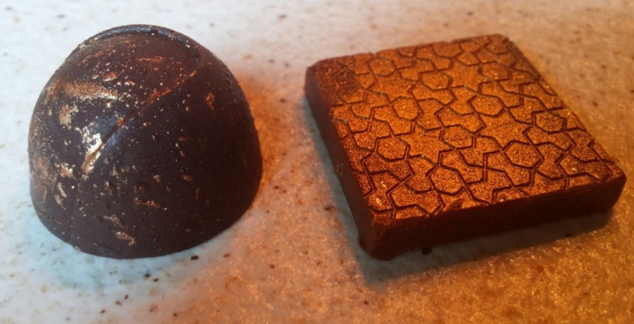 Hand-made chocolate.