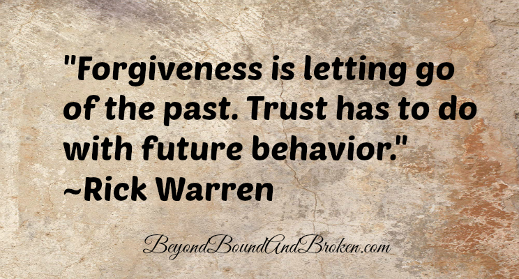 Finding Forgiveness: Part Two