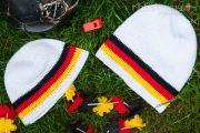 Mütze häkeln - Anleitung - Deutschland Beanie oder Long Beanie - Fußball