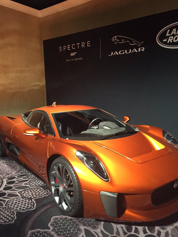 Jaguar C-X75 concept car from Spectre