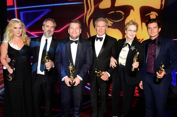 BAFTA Britannia Award Honorees - Amy Schumer, Sam Mendes, James Corden, HArrison Ford, Meryl Streep, Orlando Bloom