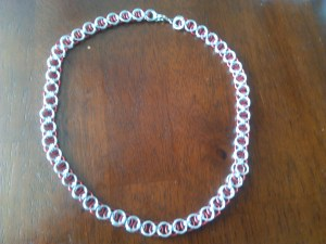 red and silver helm chain