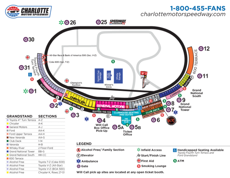 Danica patrick ric size for Charlotte motor speedway ticket office