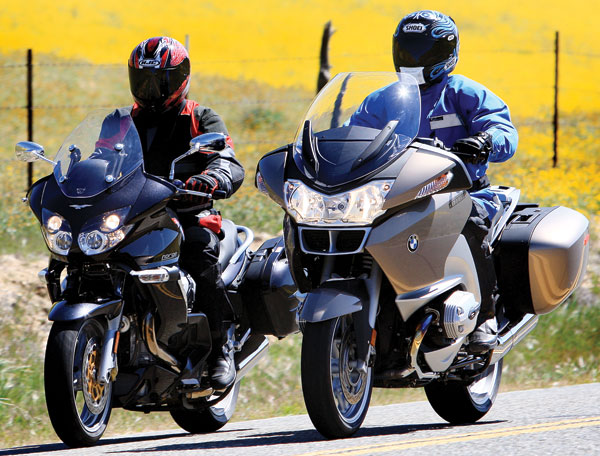 2008 Bmw R1200rt Vs 2008 Moto Guzzi Norge 1200 Rider Magazine Rider Magazine