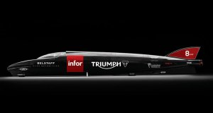 Triumph's 1,000-hp Infor Rocket Streamliner will compete for the world land speed record at Bonneville. (Photos: Triumph)