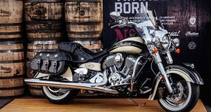 #001 of the 150-unit Limited Edition Indian Motorcycles/Jack Daniel's production run was auctioned at Barrett-Jackson Las Vegas, raising $150,000 for Operation Ride Home. (Photo: Indian Motorcycle)
