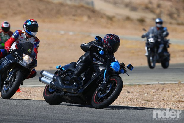 Who says you can't take a cruiser to the track? (Photo: etechphoto.com)
