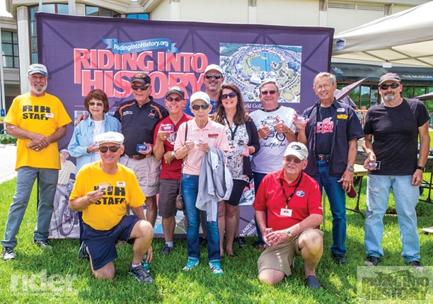 The Winners' Circle, past winners who display their bikes in the circle near the Hall of Fame. Many were volunteers as well.