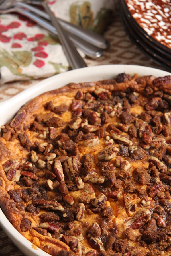 Sweet Potato Pudding With Pecan and Gingersnap Topping ...