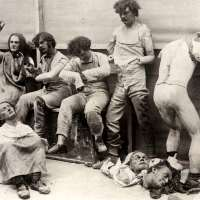 Burnt and melted wax figures after the 1925 fire at Madame Tussauds in London