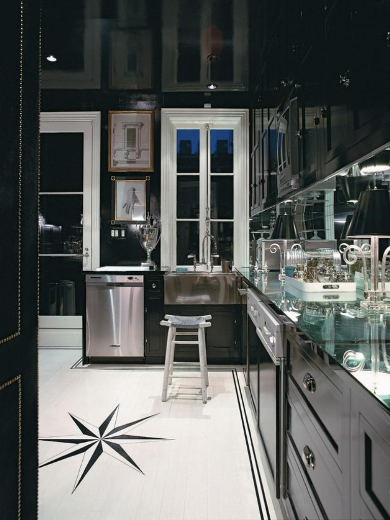 15 contemporary kitchen with black cabinets kitchen black cabinets Dramatic Kitchen with black cabinets